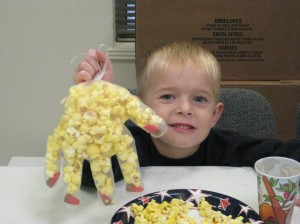 Max Shows Off Creepy Popcorn Hand