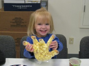 Samatha's Happy With Her Popcorn Hand!